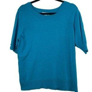 Christopher & Banks Top Short Sleeve Blue NWT